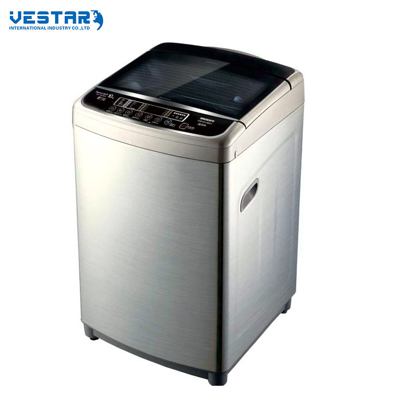 Ultra-large capacity top loading washing machine with LED