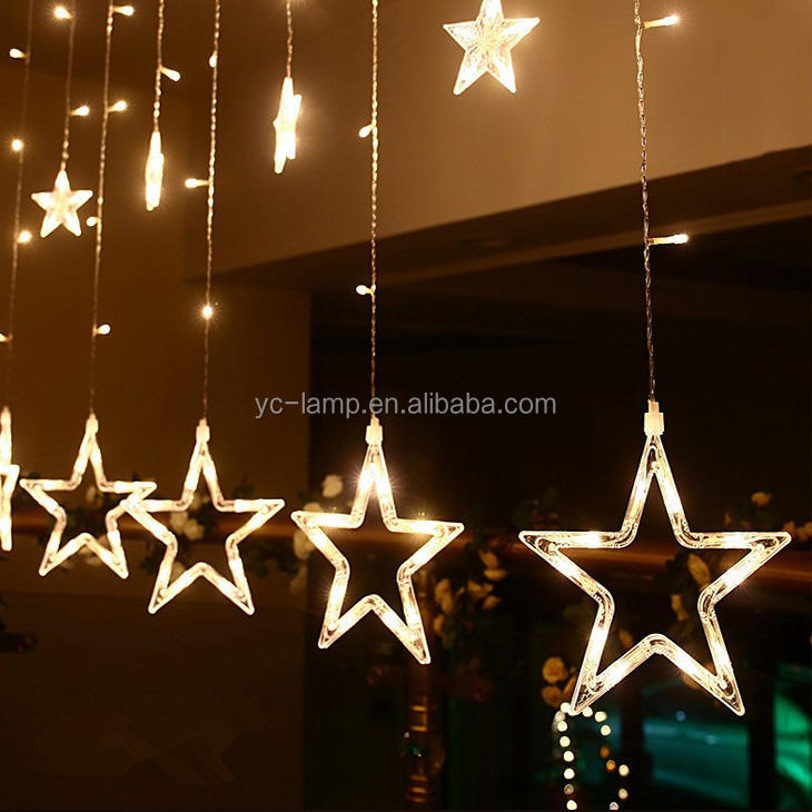 2.5*1.6m Meters 12星Wedding Decoration Led Icicle Curtain Lights屋内windows点灯