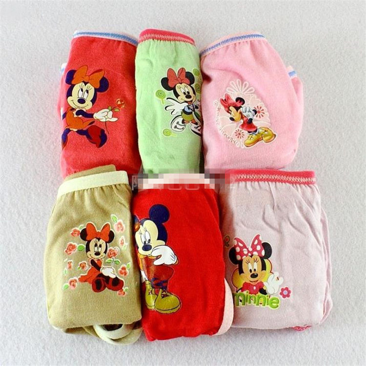 6pcs /lot 2020 new briefs kids young girl underwear models children girls teen girl underwear