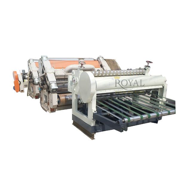 ใช้ single facer corrugation machine 2 ชั้นลูกฟูก line second hand