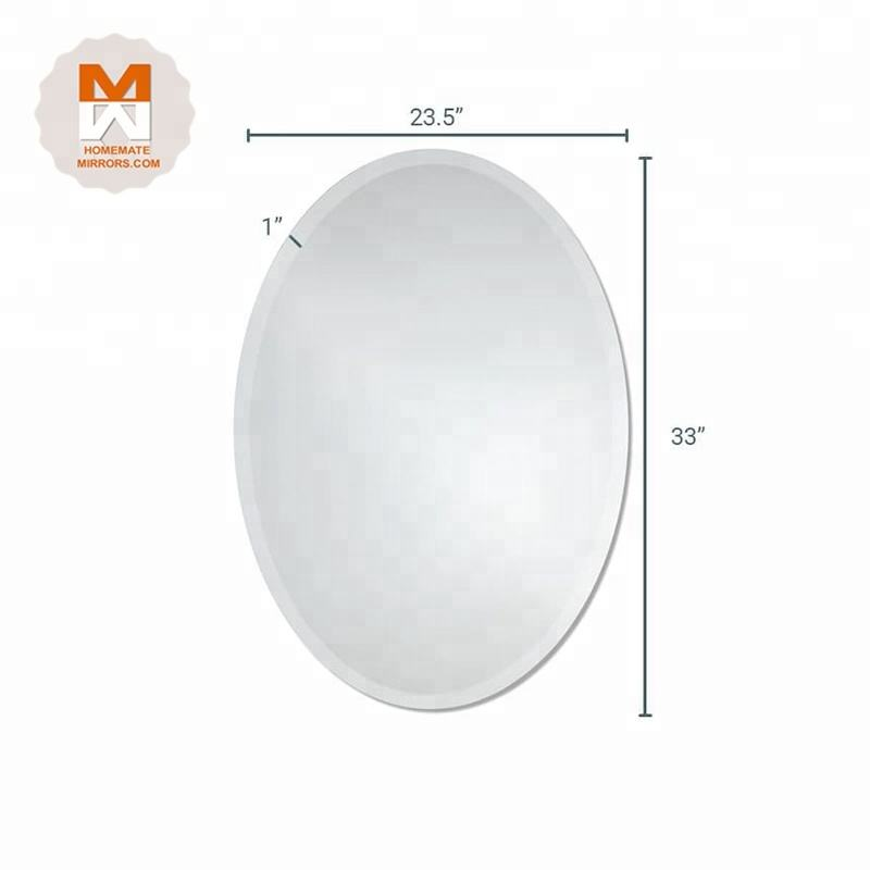 High Quality Competitive Price mirrors oval shape bevel mirror