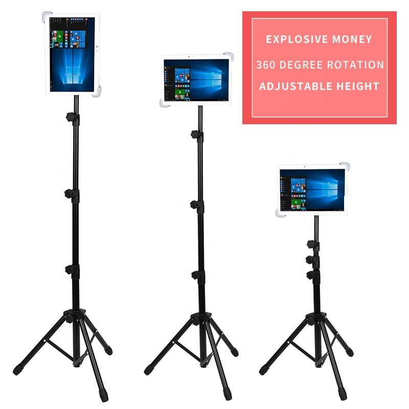 Wholesale tripod stand For ipad /mobile Phone Selfie stick with bluetooth remote