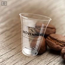 R450Y-A PLA biodegradable disposable high quality coffee juice tea corn plastic cup with lid