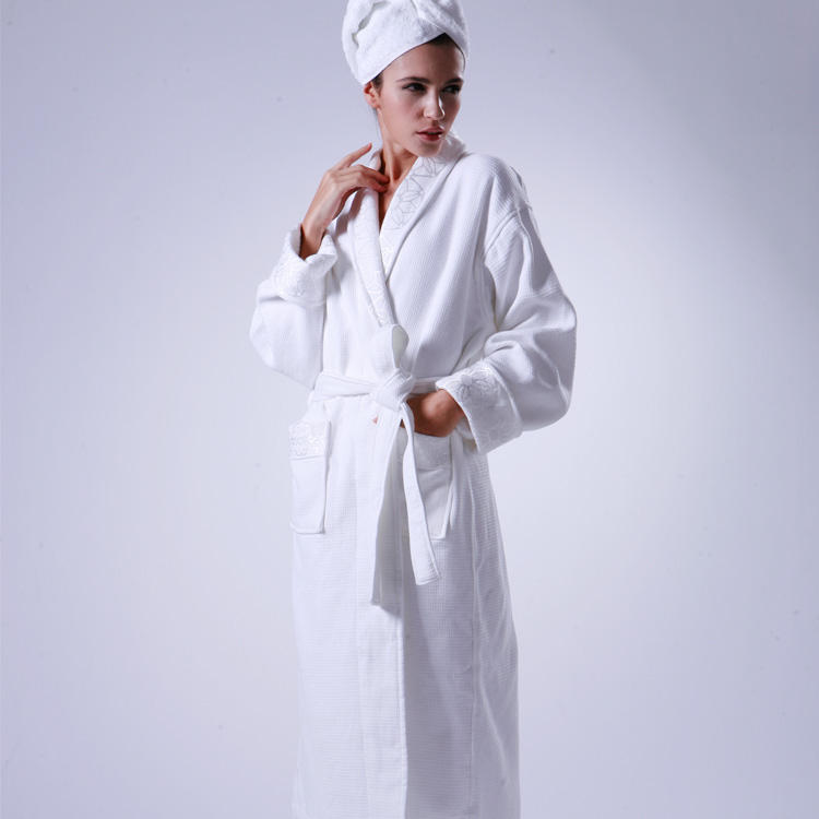 Luxe Linnen Collection <span class=keywords><strong>Vrouwen</strong></span> 5 Star Hotel Badjas Spa Robe