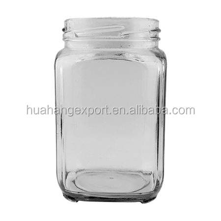 1000ml wide mouth square shape bulk 32oz clear glass mason jars for sale