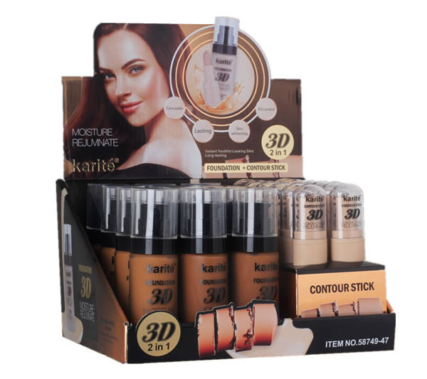 Foundation makeup liquid contour stick 3D 2 IN 1 private label
