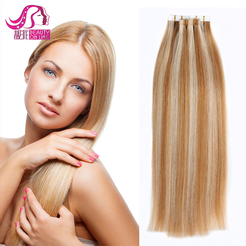 Wholesale Double Draw Sew In Skin Weft Glue 100% European Tape /PU Human Extension Hair Tape