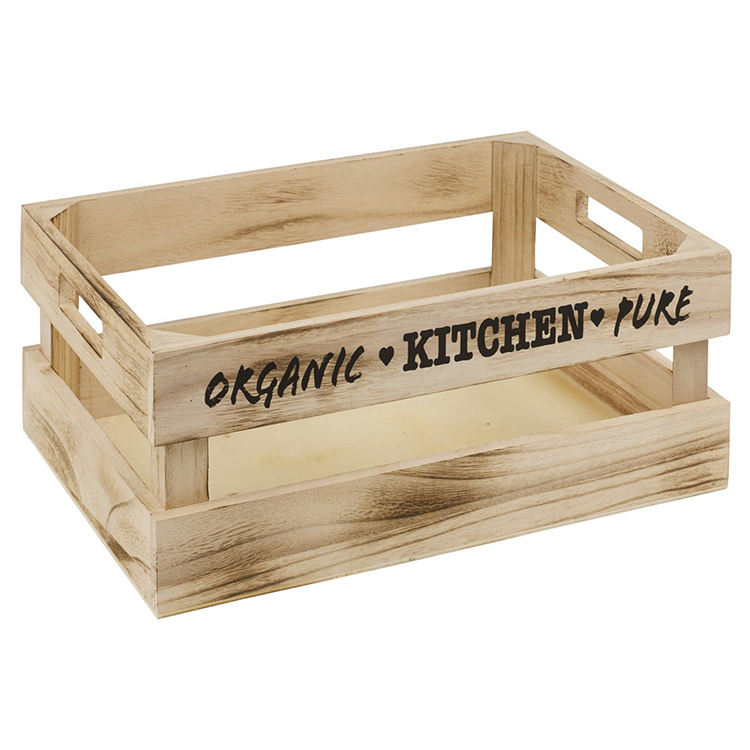 Natural Wood Cheap Antique Wooden Wine Crate