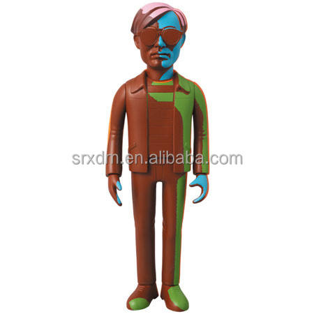 9 ''couleur Andy figurines en plastique/oem conception de <span class=keywords><strong>collection</strong></span> caricature image figurines/personnalisé figurine d'action de dessin animé fabricant