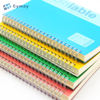 Custom plastic hard cover a5 bulk spiral notebook advertising PVC waterproof notepads with yellow paper wholesale