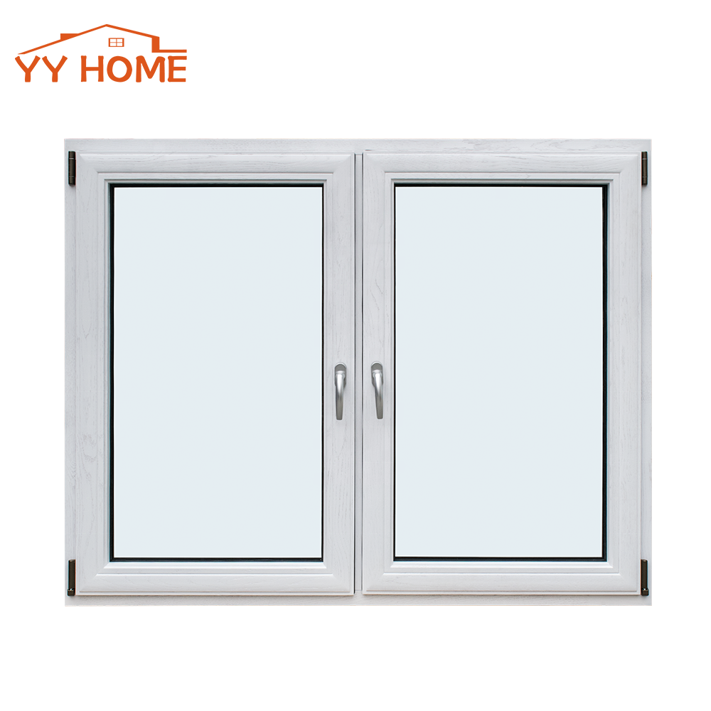 U-Factor0.23 aluminum wooden window frames designs tilt and turn window with Double Panel Glazed high quality hardware