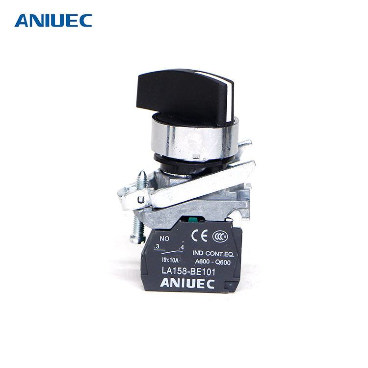ANIUEC IP65 Durable Metal Selector 12v Push Button Switch