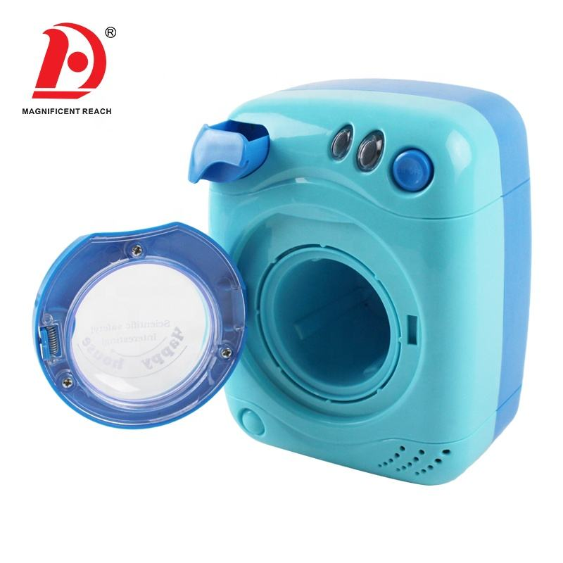 HUADA 2019 Pretend Play Household Appliance Kids Mini Washing Machine Toy with Music & Light