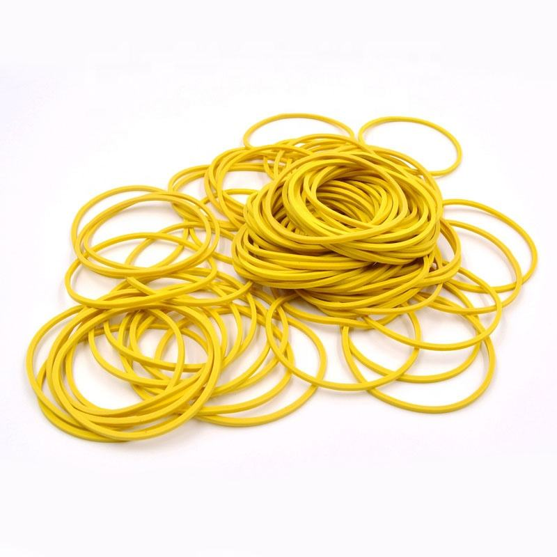 Yellow Color Rubber Bands for Packaging