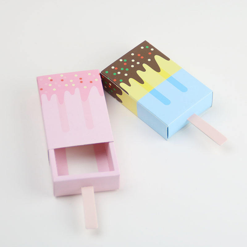 New Design Ice Cream Paper Box Baby Shower Paper Gift Box
