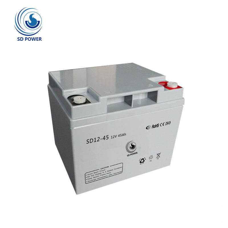 factory direct ups agm li-ion battery 12v 45ah for solar system