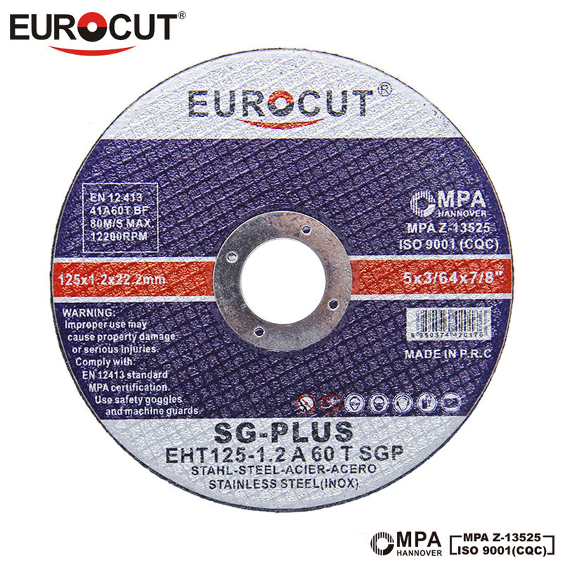 EUROCUT hign performance 5 inch double net cut off wheel for metal cutting disc