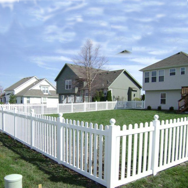 Picket Fence Top Quality PVC Vinyl Picket Fence