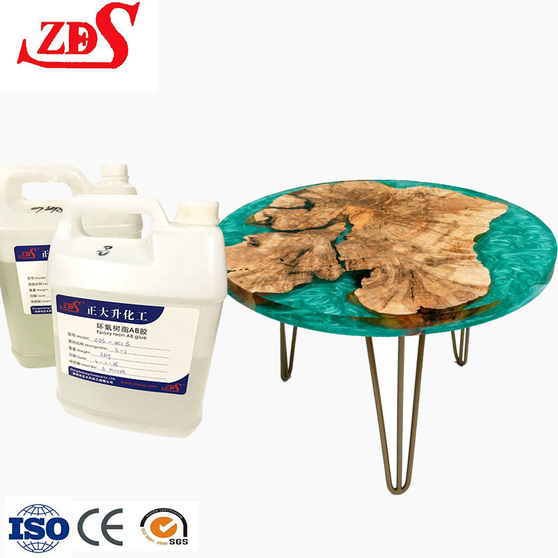 countertop epoxy ab resin/liquid epoxy resin ab glue for epoxy resin console table/clear resin art