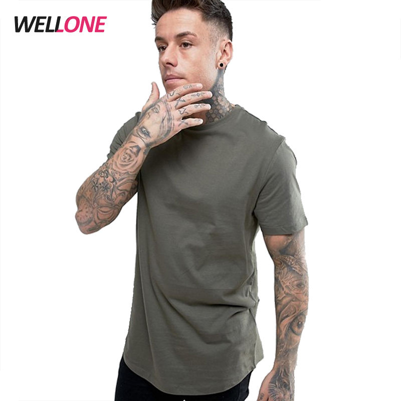 Guangzhou apparel manufacture round hem fashion custom printing logo blank 100% cotton short sleeve khaki t shirt men's