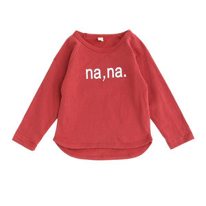 2412/factory direct sale spruce excellent Cotton crew neck long sleeve top for kids