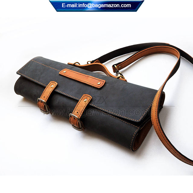 Leather Chef Knife Roll Knife Case Bag OEM Manufacturer