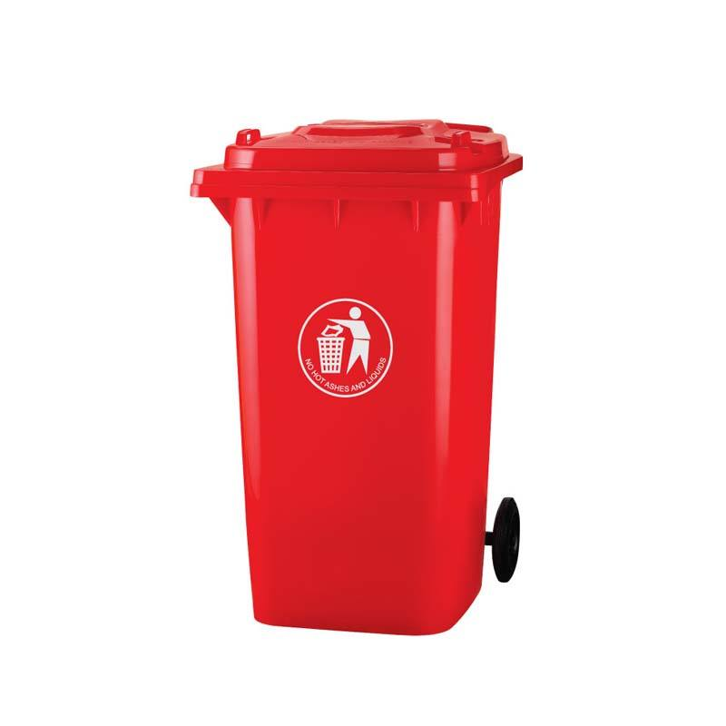 Factory sales plastic dustbin HDPE stand 240L garbage bin