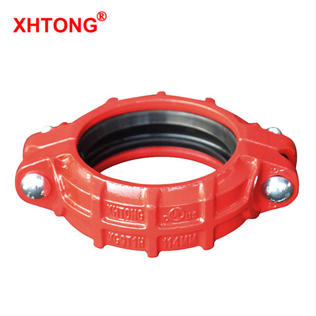 UL Approved Cast Iron High Working Pressure Grooved Coupling and Fitting for Fire Fighting System