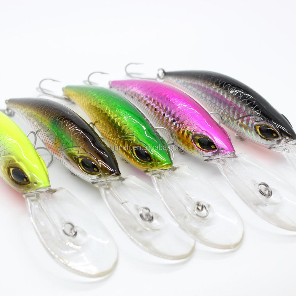 Wholesale Wobblers High Quality 5 Colors 14センチメートル20.6グラムHard Bait Shad Fishing Lures Bass Fresh Saltwater 4 # VMC Hooks