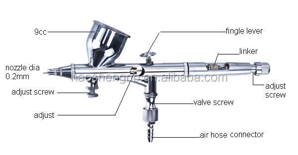 HS-80 Airbrush Multifunctionele Gravity Feed Dual-Action Airbrush Kit