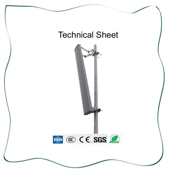 2.4GHz15db Horizontal polarization Sector Panel Antenna