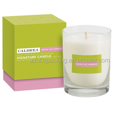 Cardboard square candle gift box CMYK Printing candle packaging