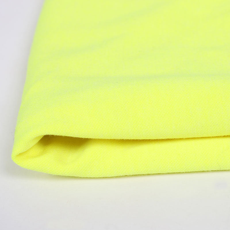 wholesale high quality Hi Vis Fluorescent yellow Modacrylic flame retardant knitted fabric