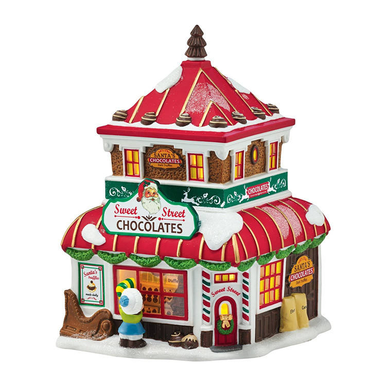 ขายร้อน Handmade porcelain christmas village บ้าน
