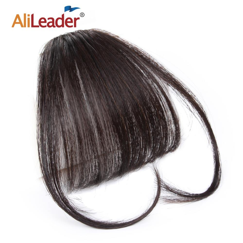 AliLeader Clip in Human Hair Bangs For Hair Decoration
