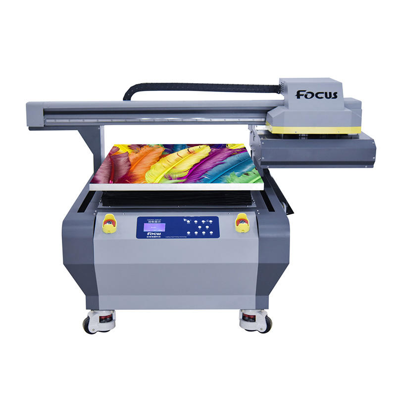 Galaxy-Jet X latest 6090 flatbed mini uv inkjet printer A3 A2 A1 label car bike sticker logo printing machine