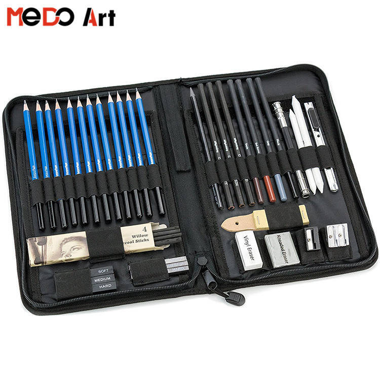 40 Stück Charcoal Earser Knife Drawing Sketch Pencils Set