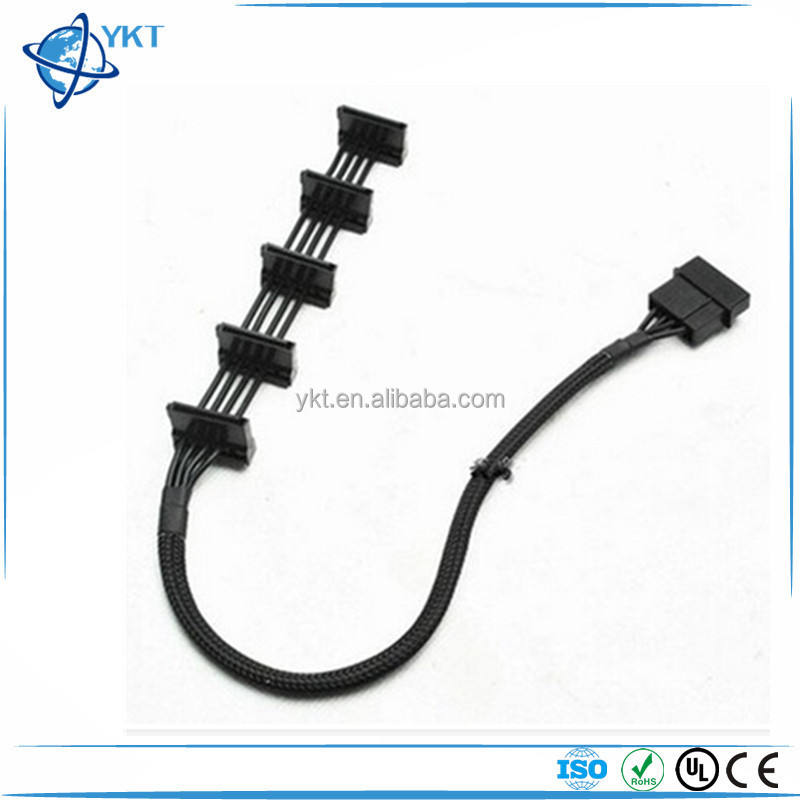15.7 inch PC DIY ATX 4Pin 4 P Molex IDE untuk 5 Serial ATA SATA Kabel Power Supply