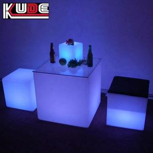 LED square cube table / glowing bar square table / lighted Pub cube table