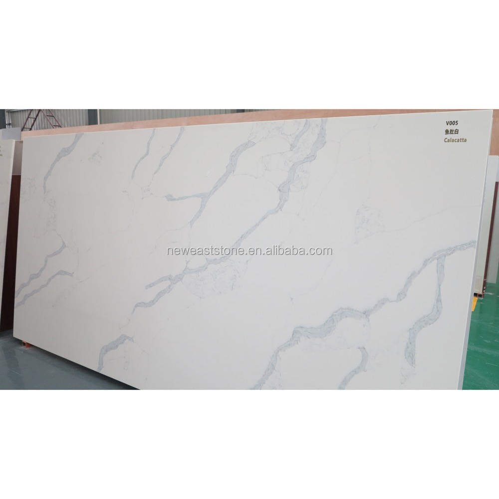 calacatta quartz stone table top slab price