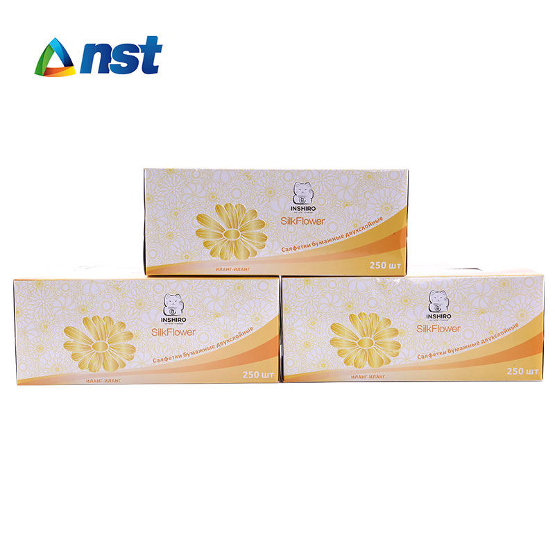 상자 페이셜 조직 2ply 250 sheets/상자 OEM custom printed box