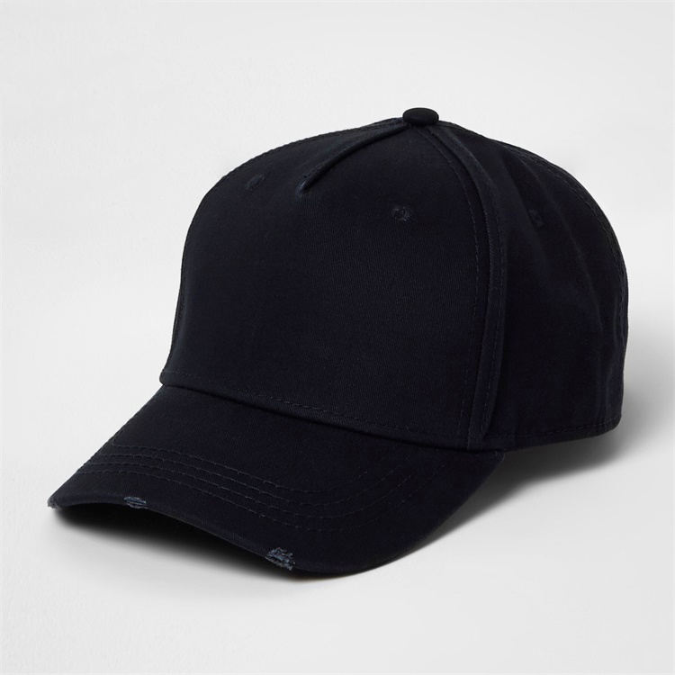 High Quality Custom 5 Panel 100% Washed Cotton Distressed Brim Baseball Cap