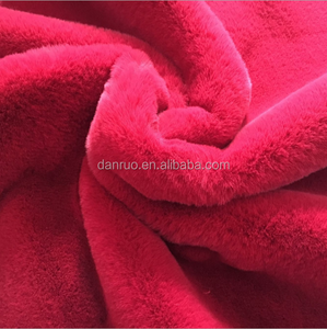 Hot burst models imitation rabbit hair thick thick plush fashion home textile DIY fabric factory outlets