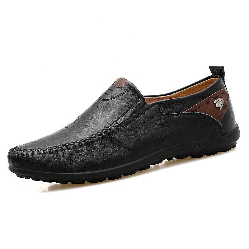 Best-selling men's casual shoes 37-46 size leather casual shoes