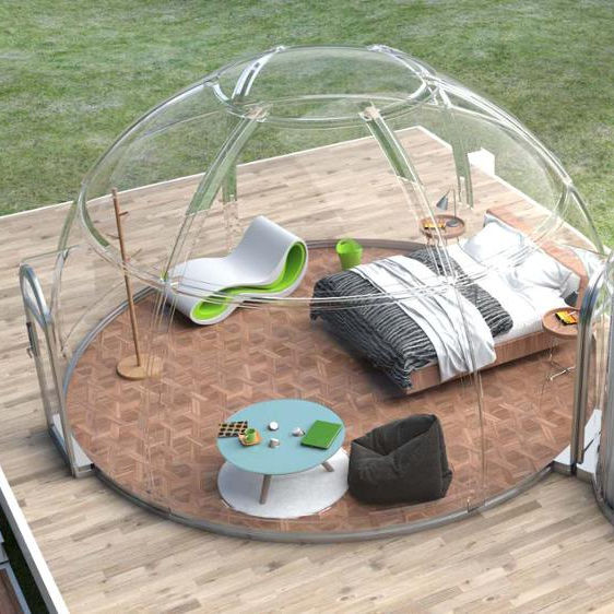 New Outside Clear Dome House Safety PC Glamping Tent