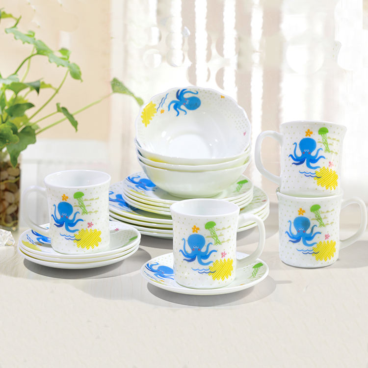manufacturer price factory price blue floral dinnerware sets outdoor tableware set