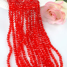 Red 4mm Faceted Crystal Glass Beads Manufacturers Bracelet Beads Free Shipping
