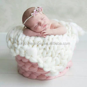 Baby Newborn Blanket Photo Prop Newborn Photography Props Accessories Handmade Crochet Baby Blanket