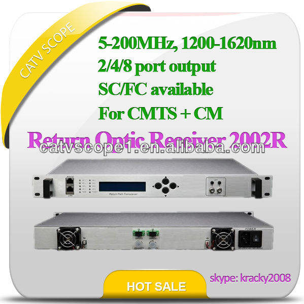 5-200MHz 2/4/8/16 way CMTS reverse path optical receiver CSP-2002R/2004R/2008R/2016R
