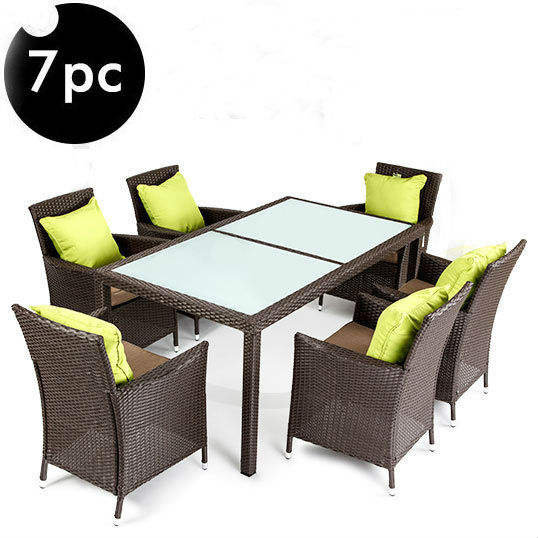 All Weather Outdoor Wicker Rattan Furniture Garden Dining Set Patio Table And Chair Outdoor Furniture Garden Table Set